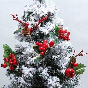 3 unids Árbol de Navidad Garland DIY Artificial Pine Cono Ramas Accesorios para Navidad Party Party Decoración Arreglo Flor