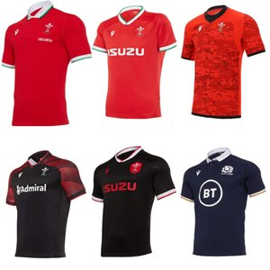 2020 2021 Gales Escocia Rugby Jersey 20 21 Hogar lejos del camino Galés Tamaño S-5XL Scottish Shirt Maillot Camiseta Maglia