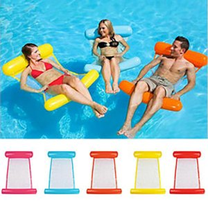 Summer Inflatable Floating Row Chair Floating Bed Float Mattresses Beach Foldable Swimming Pool Fruit Chair Hammock Water Sport Mattress