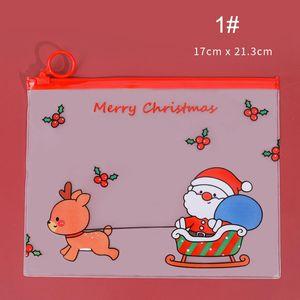 حقيبة عيد الميلاد حقيبة الإبداعية الكرتون القلم أكياس عالية السعة قلم الحقيبة لطيف طالب القرطاسية حقيبة ماء سستة قلم حقيبة BH4686 BC