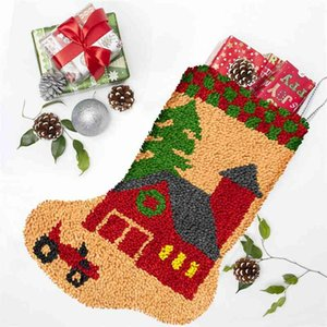 --Christmas animation socks color printing section embroidery Cross Stitch - Gift level