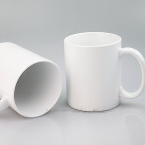 Sublimation Blanks Personality Thermal Transfer Ceramic Mug 11oz White Water Cup Party Gifts Drinkware XD24289