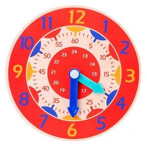 Jouets pour enfants, Éducation précoces SIDA, horloge en bois de Montessori, jouets, heures, minutes, secondes, horloges colorées cognitives CCF5628
