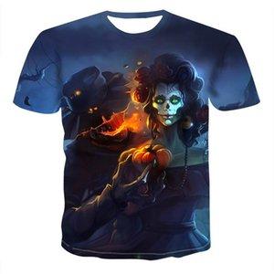 Kürbislaterne Schädel 3D Druck T-shirt Männer Frauen T-shirt Sommer Casual Kurzarm Oansatz Streetwear Topstees XXS-6XL
