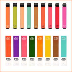 Barras de soplo Plus Kit desechable Vape 800 + Pantalla PLAN 550MAH Batería 3.2ml Cartuchos Poders PRESPLADOS E CIGS VAPORIZADORES PORTÁTIL