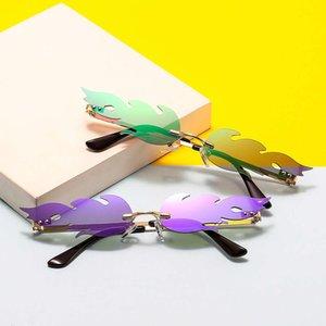 72a Новая Личность Безрамное покрытие пламя моды Солнцезащитные очки