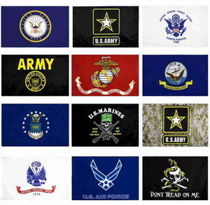 US Army Flag USMC 13 styles Direct factory wholesale 3x5Fts 90x150cm Air Force Skull Gadsden Camo Army Banner US Marines WWA124