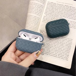 Luxury Weaving Soft Silicone Earphone Cases For Apple Airpods Pro Cover Air Pods 3 Pro 2 1 Protection Airpods2 Leather Texture
