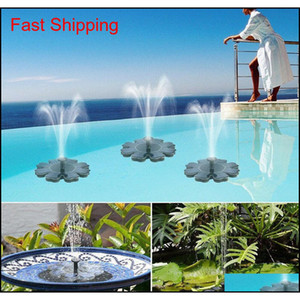 Solar Panel Powered Brushless Water Pump Yard Garden Decor Pool Outdoor Games Round Petal Floating Fountain Water P qylhaK sports2010