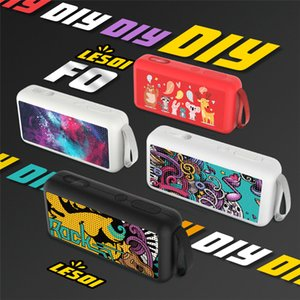 F0 Creative Graffiti Painted Mini Portable Bluetooth Speaker Stereo Subwoofer Wireless Music Handsfree Mic Loudspeaker TF Bass Mp3 Player