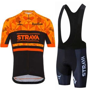 2021 Strava Cycling Set Hommes Cyclisme Jersey à manches courtes Vêtements de vélo Kit de vélo MTB Bike Wear Triathlon