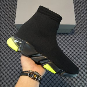 رجل امرأة عارضة الأحذية جورب 1 2.0 المشي الأحذية سرعة المدرب الأصلي باريس سيدة أسود أبيض أحمر الدانتيل الجوارب الرياضية أحذية رياضية أعلى جودة الأحذية واضحة وحيد حجم 36-47 US6 US7