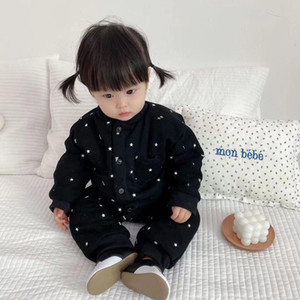 021 New Born Baby Winter Warm Rompers Cartoon Soft Cotton Jumpsuit Infant Baby Boys Girls Long Sleeve Thick Clothes Outwear