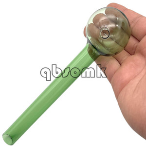 Qbsomk Super Big 20cm Lunghezza Lunghezza Colore misto Pyrex Bruciatore Tubo Cancella vetro Bruciatore di olio Bruciatore in vetro Tubo di vetro Tubi fumatori