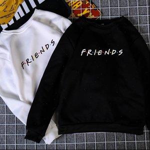 Womens Letters Print Long Sleeve Hoodie Sweatshirt Colors S M L XL Brand New 2021 Ladies Slouch Pullover Jumper Tops