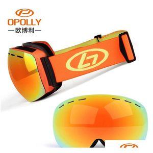 Men Women Winter Snow Sports Ski Goggles Snowboard Goggles With Anti-fog Uv 400 Protections Double Lens Sk jllGFj ladyshome