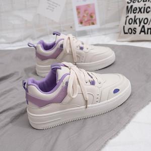 Fashion Women Sneakers White Platform Shoes 2021 Spring New Casual Platform Sneakers Womens Comfortable Female Vulcanize Shoes