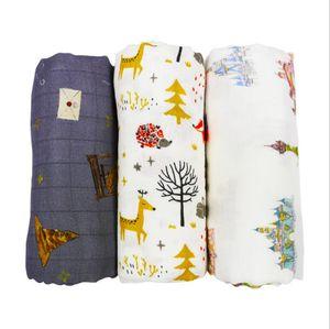 Infant Muslin Blanket Animal Baby Swaddle Baby Newborn Bathroom Towels Robes Infant Swadding Muslin Swaddle GWB5392