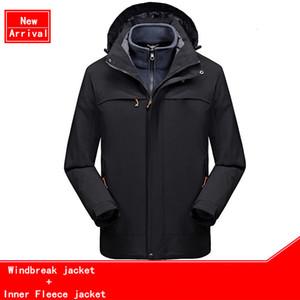 New 2021 Autumn Winter Coat Men Outdoor Windproof Waterproof Multi-function Warm Overcoat Jacket Fleece Inner Sports Jackets 7y12