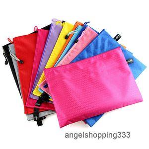 Colorful Pocket Folders Rits Zakken Document Pouch File Zak Map Paper School Words Filing Production Organizer Bag