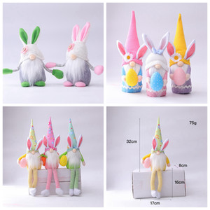 Easter Gnomes Faceless Bunny Dwarf Doll Rabbit Plush Toys Kids Gift Happy Easter Party Home Decoration LLA409