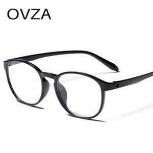 OVZA компьютерные синие блокировки очки для женщин 2021 новый ультраслый TR90 прозрачные оптические очки кадр мужчин анти-усталость S8055