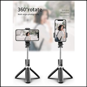 Горячий портативный беспроводной Bluetooth Selfie Stick Stripod Складные штатив Monopods 3 в 1 мини Selfie Tripod Universal для смартфона DHL бесплатно