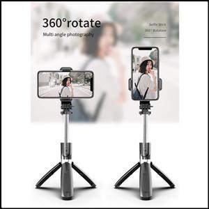 Hot portátil sem fio Bluetooth Selfie Tripd Tripod Tripod Monópods 3 em 1 mini tripé de selfie universal para telefone inteligente DHL grátis
