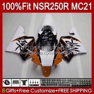 Inyección por HONDA NSR 250R NSR250 Naranja Oscura NSR 250 R 90 91 1992 1993 103HC.128 NSR250R MC21 PGM3 NSR250RR 1990 1991 92 93 Fairing OEM