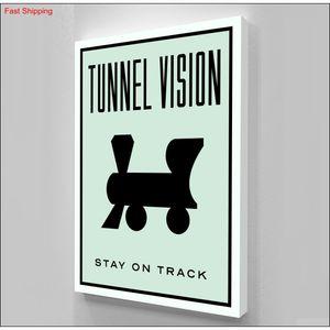 "Unframed alec Monopoly ""tunnel Vision"",hd Canvas Print Home Decor Wall Art Painting qyldAj hotclipper"