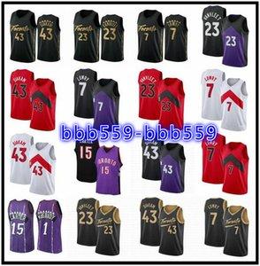Stitched Kyle 7 Lowry Hombres Niños Vintage Basketball Jerseys Vince 15 Carter Jersey Tracy 1 McGrady Pascal 43 Siakam Fred 23 Vanvleet Purple Retro Shirt
