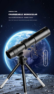 10-300x40mm Telescope monoculaire Super Zoom Oculaire Monoculaire Oculaire Jumelles portatives Jumelles de chasse LLL Night Vision Scope Camping Metal