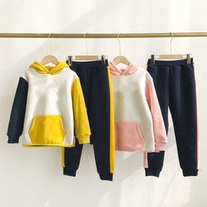 Bebek Kız Erkek Çocuk Karikatür Spor Giysileri Set Hoodied Coat Tops Pantolon 2 adet Sweatsuit Bebek Kız Bahar Güz Kıyafetler Eşofman Suit WQ427
