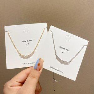 Pendant Necklaces VSnow Concise Shiny Line Cubic Zircon Metallic Necklace For Women Exquisite Gold Silver Color Jewellery Gift