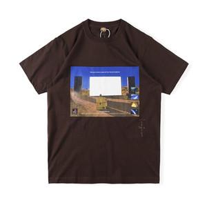 Ins heißen USA Hip Hop Star Travis Scott Cactus Jack ölgemälde Poster T-Stück Skateboard Herren T-Shirt Frauen Kurzarm Straße Casual Tshirt