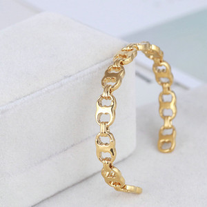 Free shipping Hot Sale Real GoldPlated Brand Bracelets Bangle Cuff Letter Fashion New For women for girl