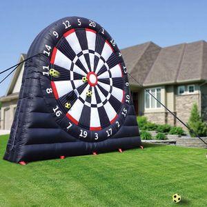 4 Meter Höhe Riesige Aufblasbare Dart Board Fussball Spiel Aufblasbare Fußball Dart Board mit Luftgebläse 6pcs Bälle Outdoor Sports