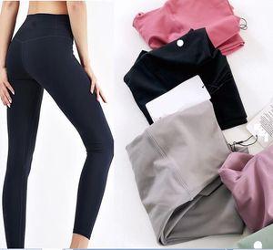 Gym wear L&u pant designer Align yoga leggings women yoga spandex material womens leggings Elastic Fitness Lady Overall Full Tights Workout