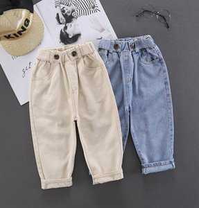 Baby Boys Jeans Pants Kids Clothes Cotton Casual Children Trousers Denim Boys Clothes 2-6Year Blue and Beige