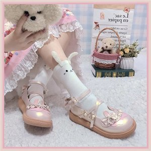 Size 41 Sweet Female Kawaii Japanese Girls Beautiful Anime Lolita Harujuku Jk Uniform Loli Women's Platform Shoes 25x3
