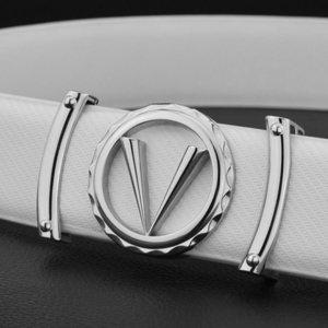 Гуанчжоу мужская кожаная молодежная мода мода Trend письмо гладкая пряжка ремня V