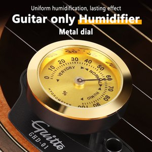Universal Guitar Humidifier Portable Hygrometer for Folk Guitar Classical Acoustic Guitars ABS+Metal Material