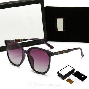 2021 Classic Sunglasses Luxury Cat-Eye Frames Brand Polarized Design UV400 Eyewear Metal Gold Designer For Sun Glasses Men Women Mirror 550 Polaroid glass Lens
