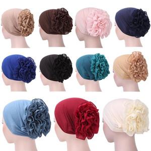 1 stück Frauen Blume Muslim Rüschenkrebs Chemo Hut Mütze Schal Turban Head Wrap Cap