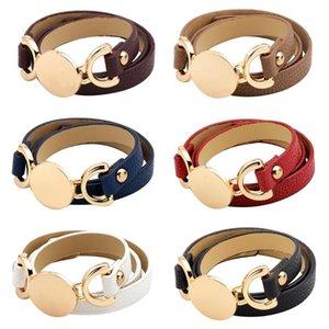 Charm Bracelets 2021 Fashion Punk Style Leather Men Stackable Bracelet Bangles For Women Jewelry Charming Gift Femme Bangle