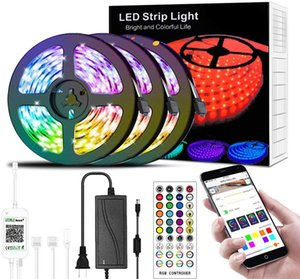Led Strip Light 49.2ft Smart RGB Music Sync Color Changing, APP Control and Remote DIY Home Decoration Light Waterproof for Indoor Outdoor