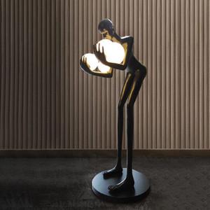 Nordic Design LED Floor Lamp Resin Standing Lamp Light Modern Floor Lamps Living Room Studyroom Bedroom Home Decor Lighting