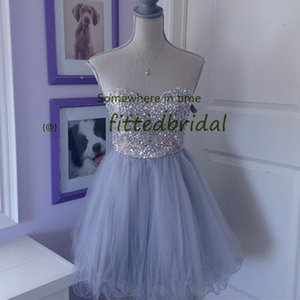 Glitter Sequin Short Prom Dresses A Line Burgundy Tulle Formal Homecoming Gowns vestido