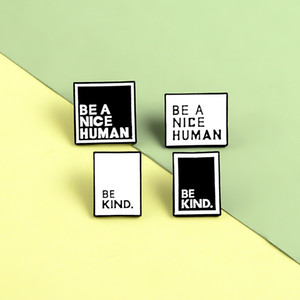 Brooch Enamel Square Pins Lapel Pin Teen Men Women Announcement Jewelry Christmas Gift 76 T2