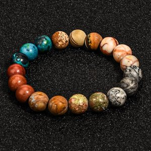 Galaxy Universe Bracelet 10mm Beads Natural stone frosted Agate Bracelets fashion jewelry for women men gift will and sandy